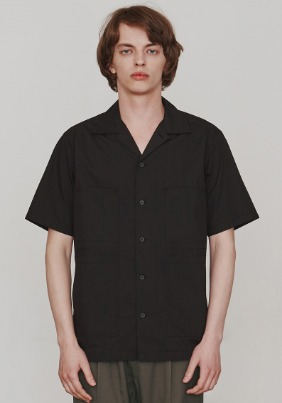 Finger Stitch Shirts (Black)